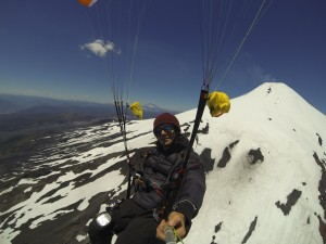 Paragliding vom Vulkan Villarrica in Pucon