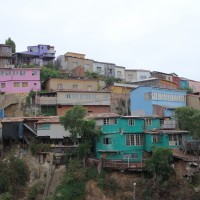 Bunte Häuser in Valparaiso