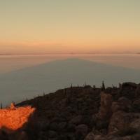Sonnenaufgang auf dem Salar de Uyuni