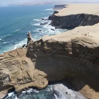 Diese Steinformation an der küste wird Kathedrale genannt