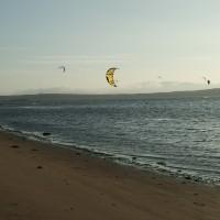 kitesurfer im paracas nationalpark