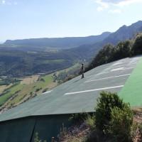 die startrampe von Berga in den pyrenäen