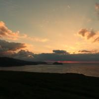Sonnenuntergang vom Campingplatz gesehen
