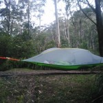 Tentsile Zelt fertig aufgebaut