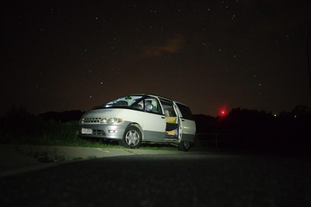 Unser minicamper unter dem Sternenhimmel