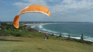 gleitschirm start lennox head