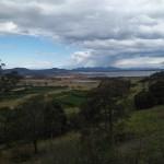 aussicht auf die Coles Bay in Tasmanien
