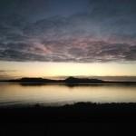 sonnenuntergang in pastellfarben am südzipfel von Tasmanien